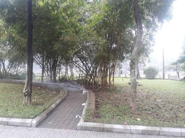 Vụ cô gái tử vong trong công viên ở Hà Nội: Thi thể có nhiều vết bầm tím - Ảnh 1.
