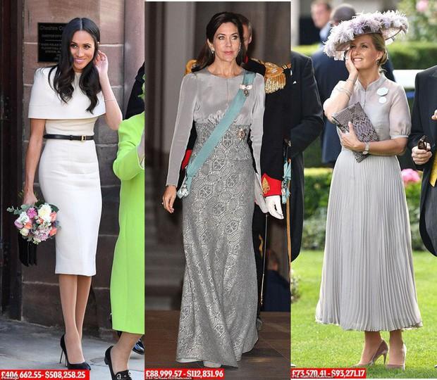 8 tháng làm dâu Hoàng gia, Meghan Markle đã chi tiền mua quần áo gấp 6 lần tủ đồ cả năm 2018 của Kate - Ảnh 4.