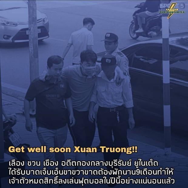 Fan Thái Lan xót xa khi biết tin Xuân Trường chấn thương: Tôi muốn cậu ấy quay lại đây thi đấu, nhưng không được nữa rồi - Ảnh 1.
