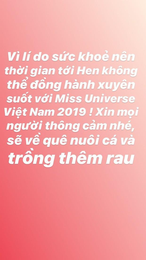HHen Niê bất ngờ thông báo dừng đồng hành với Hoa hậu Hoàn vũ Việt Nam 2019 - Ảnh 1.