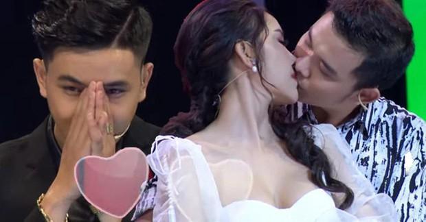 Hoa khôi bị ném đá vì hôn bạn diễn trong show hẹn hò phải đi truyền nước vì quá stress - Ảnh 1.