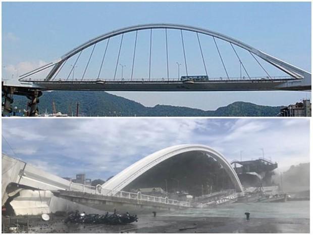 Cầu dây văng 140m ở Đài Loan bất ngờ đổ sập khiến 20 người bị thương, nhiều nạn nhân vẫn mắc kẹt - Ảnh 1.