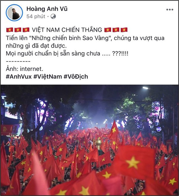 Dàn sao Việt đồng loạt cổ vũ: Việt Nam tiến lên trước giờ G đội tuyển Việt Nam gặp Malaysia - Ảnh 2.