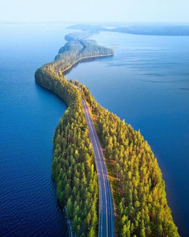 """Con đường """"không biết là thực hay là mơ"""" ở Phần Lan đang khiến cả thế giới lùng sục, lý do nằm ở loạt ảnh chụp bằng flycam này - Ảnh 5."""