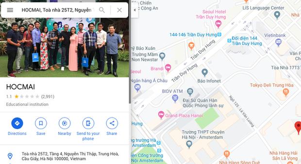 Hợp tác cùng giáo viên Vũ Khắc Ngọc, HOCMAI nhận bão 1* trên chợ ứng dụng và Google Maps - Ảnh 3.
