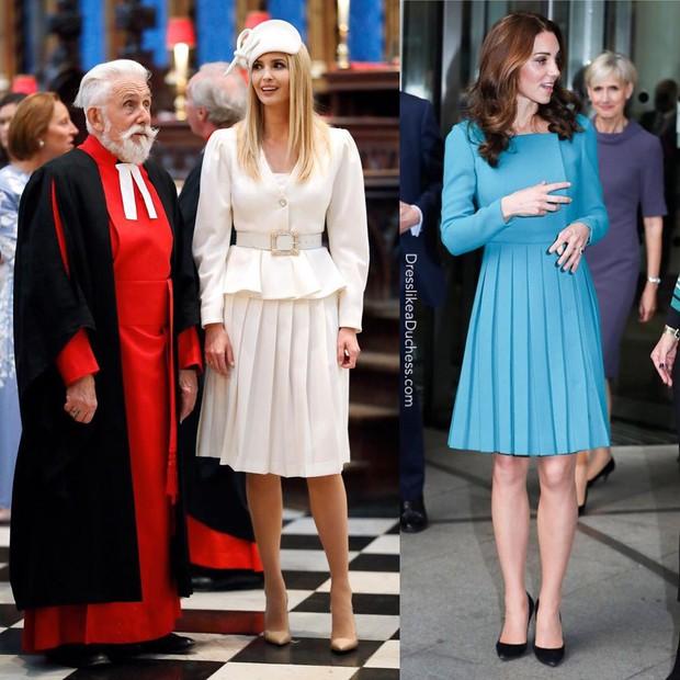 """""""Đánh bại"""" Meghan Markle nhưng ái nữ tổng thống Trump vẫn thua đẹp trước công nương Kate khi diện đồ hao hao - Ảnh 3."""