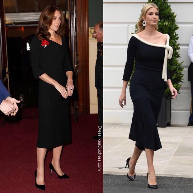 """""""Đánh bại"""" Meghan Markle nhưng ái nữ tổng thống Trump vẫn thua đẹp trước công nương Kate khi diện đồ hao hao - Ảnh 4."""