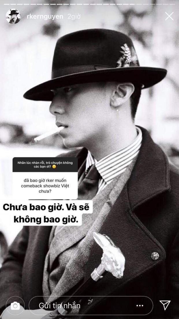 Rocker Nguyễn mở talkshow trên Instagram: Tuyên bố không quay lại showbiz, dăm ba cái follow nghĩa lý gì khi bây giờ đã có sự nghiệp và bạn gái đẹp! - Ảnh 2.