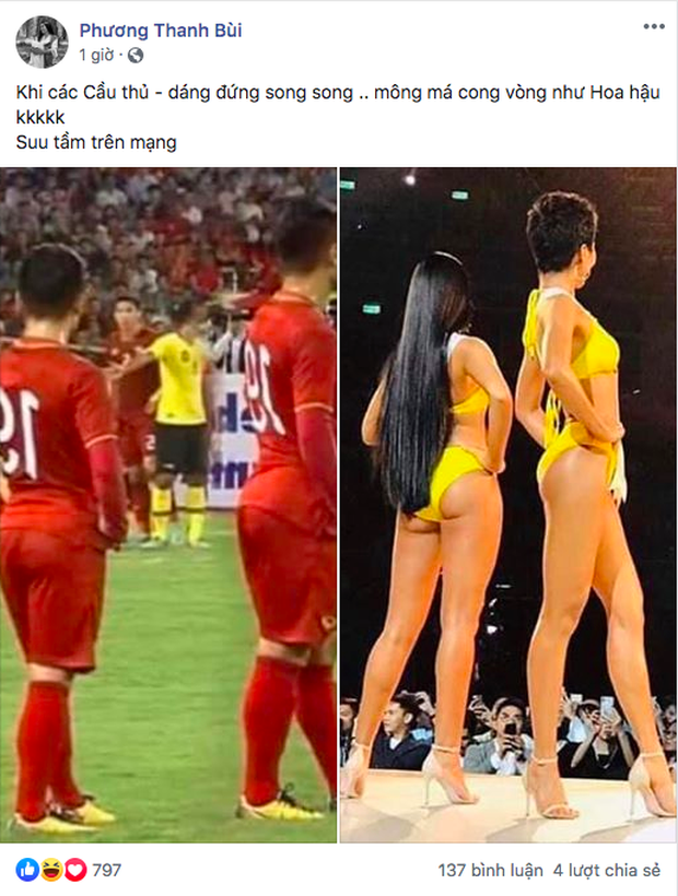 Dàn cầu thủ Việt Nam siêu vòng 3, đứng trên sân đấu mà được ví như HHen Niê thi Hoa hậu! - Ảnh 1.