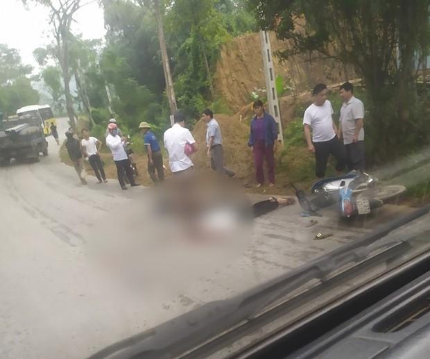 Chồng bị ô tô cán tử vong, vợ nguy kịch sau khi đâm trúng chó chạy qua đường - Ảnh 1.