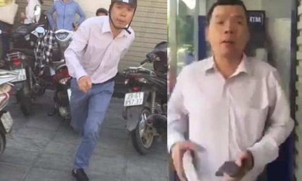 Người đàn ông đánh phụ nữ ở cây ATM đã trình diện công an, xin được hòa giải - Ảnh 2.