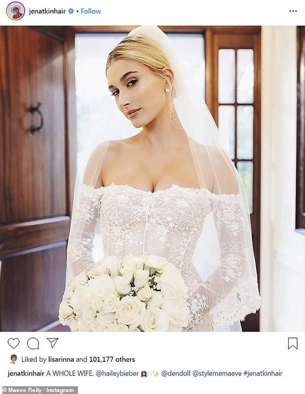Stylist tiết lộ loạt ảnh thần sầu của Hailey trong đám cưới bạc tỷ với Justin, dân tình chỉ chú ý 1 chi tiết ở đôi chân - Ảnh 3.