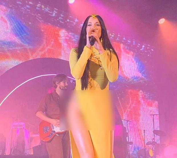 Nữ ca sĩ nhạc đồng quê Kacey Musgraves bị chỉ trích gay gắt vì mặc áo dài nhưng quên mặc quần - Ảnh 2.