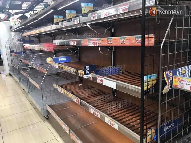 Siêu bão Hagibis quét qua Nhật: chưa bao giờ các siêu thị rơi vào tình trạng cháy hàng đến vậy, ai tích trữ được gì là tích trữ - Ảnh 3.