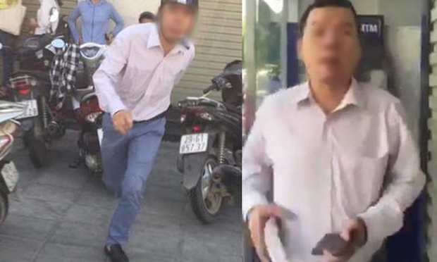 Gã đàn ông đánh tới tấp người phụ nữ tại cây ATM rồi hỏi Mày biết tao là ai không? bị phạt 2,5 triệu đồng - Ảnh 1.
