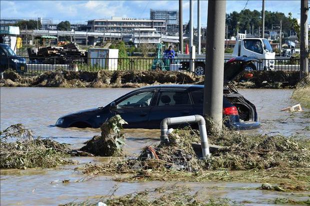Siêu bão Hagibis cuốn trôi lượng lớn rác thải sau khử xạ tại Nhật Bản - Ảnh 1.