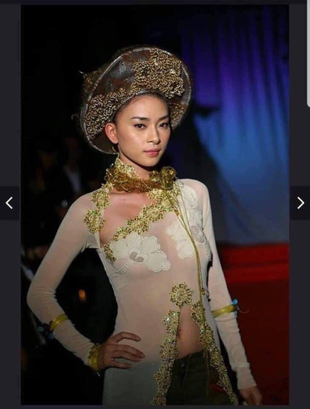 Xôn xao ảnh Ngô Thanh Vân diện áo dài xuyên thấu, hở cả vòng eo sau khi lên án nữ ca sĩ Kacey Musgraves mặc áo dài Việt phản cảm - Ảnh 1.