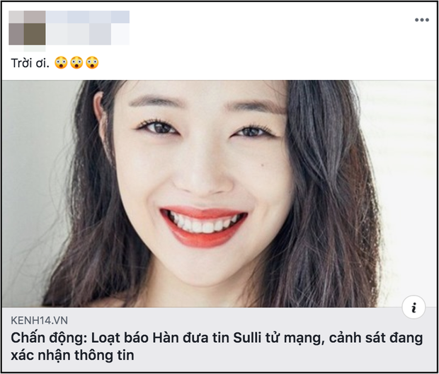 Netizen thế giới bàng hoàng trước tin Sulli đột ngột qua đời, đã tìm thấy thi thể vào chiều nay: Sốc, không thể tin được! - Ảnh 9.
