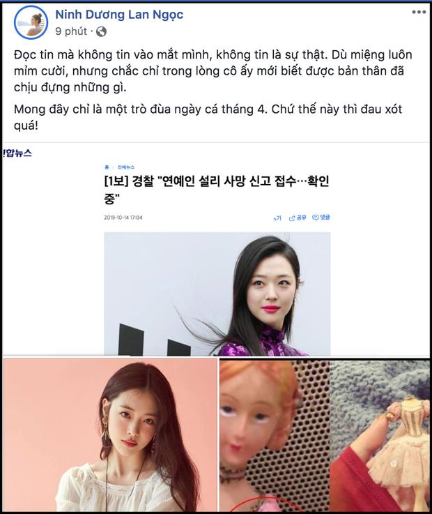 Không riêng netizen, dàn sao Vbiz cũng bàng hoàng không tin nổi Sulli qua đời vì tự vẫn là sự thật - Ảnh 1.