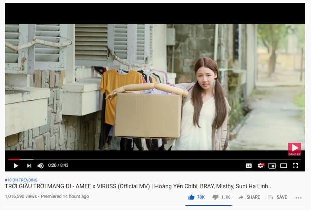 MV mới của AMEE tiến nhanh vào Top Trending: đúng là Jack, K-ICM và Quân A.P bị Top Trending YouTube thất sủng! - Ảnh 1.