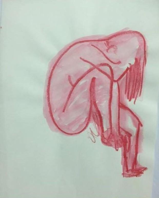 Xôn xao loạt tranh trừu tượng Sulli tự vẽ từ 2 năm trước: Ẩn ý cảm xúc thật trước khi tìm đến cái chết? - Ảnh 1.