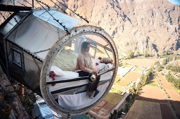 """""""Chiếm đóng"""" giữa kỳ quan thiên nhiên như Mã Pì Lèng Panorama, khách sạn lưng chừng núi ở Peru lại được khen hết lời - Ảnh 5."""