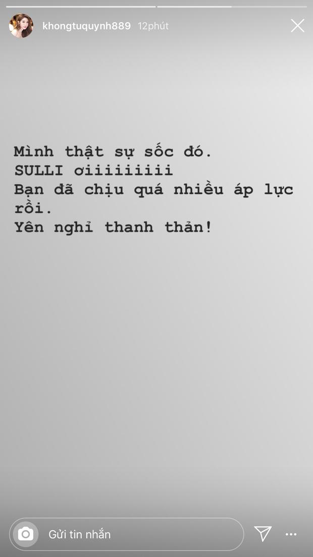 Không riêng netizen, dàn sao Vbiz cũng bàng hoàng không tin nổi Sulli qua đời vì tự vẫn là sự thật - Ảnh 7.