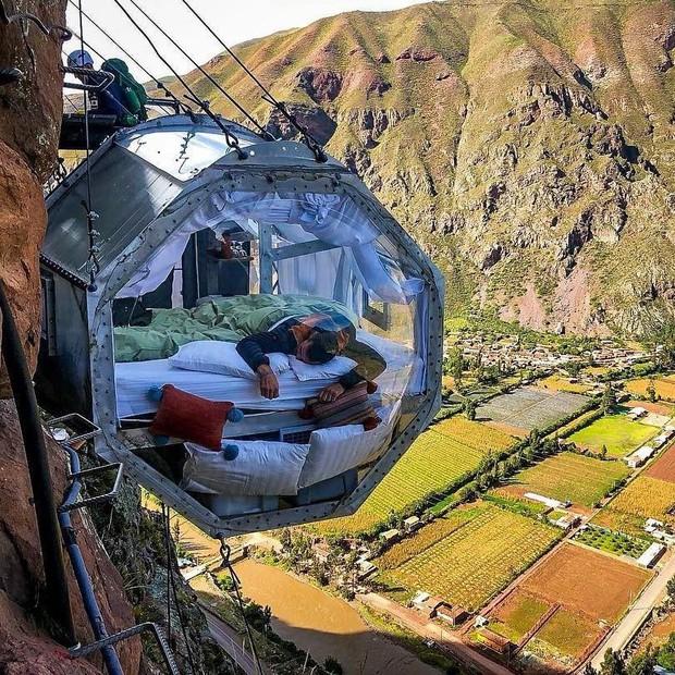 """""""Chiếm đóng"""" giữa kỳ quan thiên nhiên như Mã Pì Lèng Panorama, khách sạn lưng chừng núi ở Peru lại được khen hết lời - Ảnh 8."""