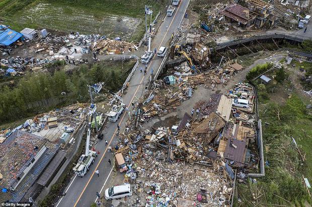 Cảnh tan hoang vì siêu bão Hagibis ở Nhật Bản nhìn từ trên cao - Ảnh 11.