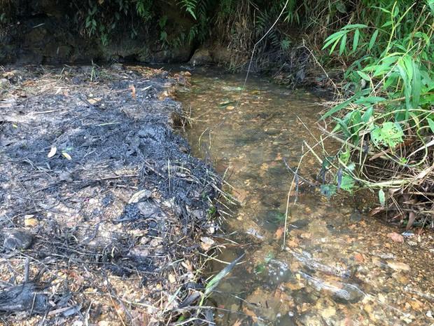 Cận cảnh nhiều mảng bám giống dầu nhớt quyện trong dòng nước dẫn vào nhà máy nước sông Đà - Ảnh 3.