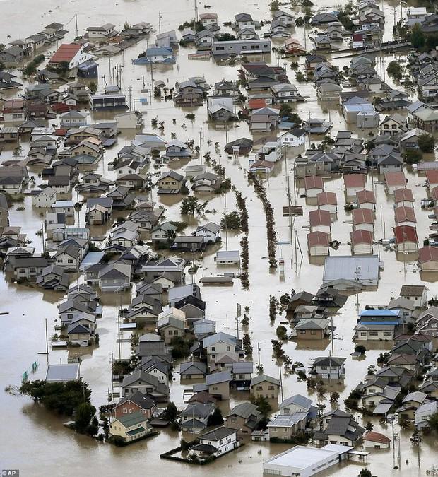 Cảnh tan hoang vì siêu bão Hagibis ở Nhật Bản nhìn từ trên cao - Ảnh 7.