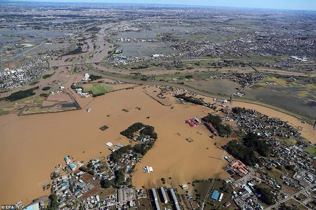 Cảnh tan hoang vì siêu bão Hagibis ở Nhật Bản nhìn từ trên cao - Ảnh 9.