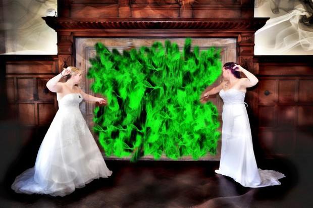 Mê Harry Potter, cặp đôi đồng tính quyết biến đám cưới thành thế giới phù thủy khiến các Potterhead được phen trầm trồ - Ảnh 1.