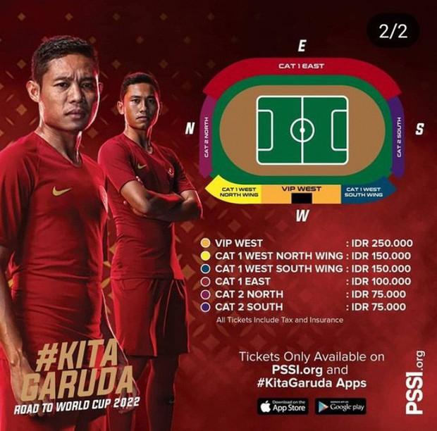Indonesia bán vé xem vòng loại World Cup 2022 rẻ hơn Việt Nam - Ảnh 1.