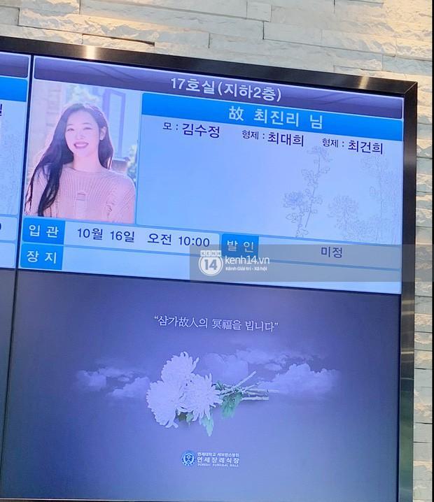 SM Entertainment bất ngờ thông báo: Fan có thể đến viếng Sulli từ hôm nay! - Ảnh 2.