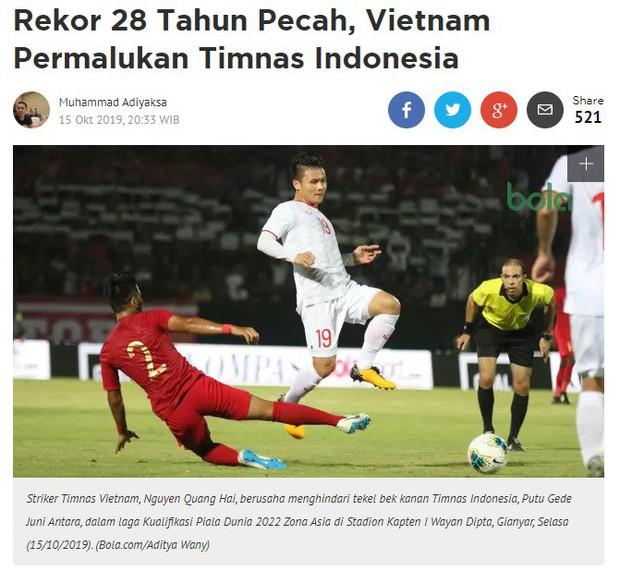Báo Indonesia: Kỷ lục 28 năm bất bại tan tành, đội bóng của chúng ta bị Việt Nam hạ nhục! - Ảnh 1.