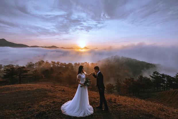 """Choáng toàn tập với khung cảnh """"1 mét vuông 12 cô dâu"""" ở Đà Lạt mùa cỏ hồng, bình minh 30 phút mà có 50 đôi chụp ảnh cưới - Ảnh 4."""