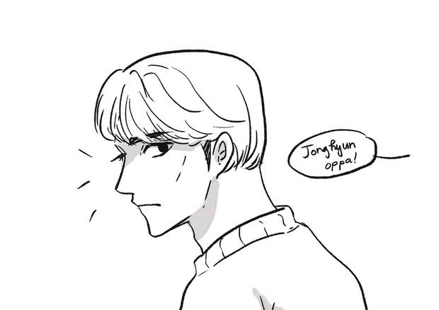 Truyện tranh về Jonghyun và Sulli - 2 idol gặp nhau ở 1 thế giới khác: Em đã vất vả nhiều rồi, ở đây tóc tai màu gì cũng được - Ảnh 3.