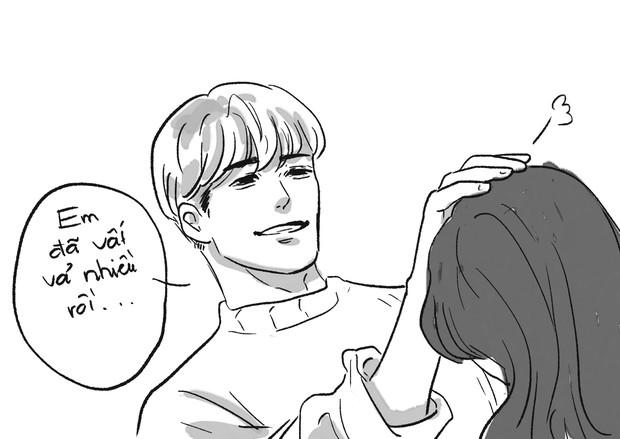 Truyện tranh về Jonghyun và Sulli - 2 idol gặp nhau ở 1 thế giới khác: Em đã vất vả nhiều rồi, ở đây tóc tai màu gì cũng được - Ảnh 7.