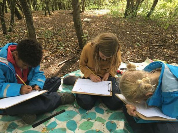Quên ghế gỗ, bảng đen đi, học sinh của ngôi trường này được học ngoài trời, em nào cũng vui tươi phơi phới - Ảnh 3.