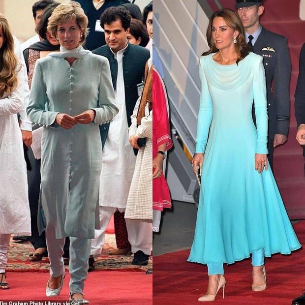 Kate Middleton gợi nhớ đến Công nương Diana khi diện mẫu đầm truyền thống của Pakistan - Ảnh 6.