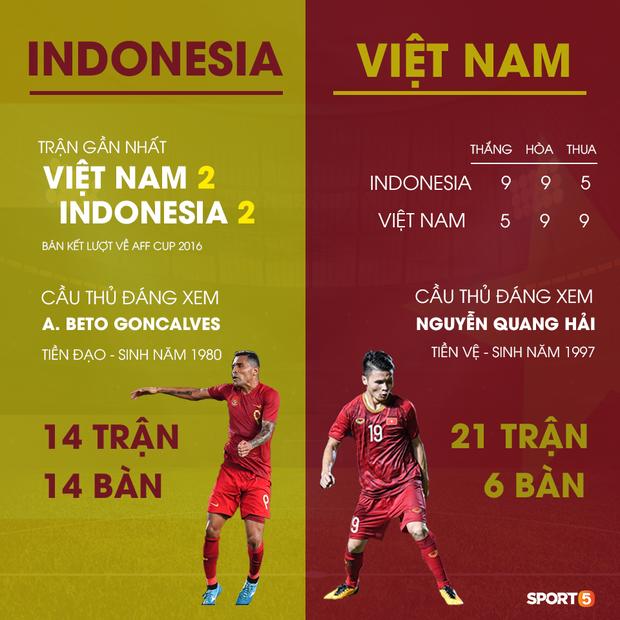 Indonesia áp đảo về thành tích đối đầu, người hâm mộ Việt Nam chờ phù thủy Park Hang-seo viết lại lịch sử - Ảnh 9.