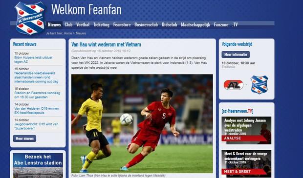 Đội bóng Hà Lan chúc mừng Văn Hậu ca khúc khải hoàn cùng ĐT Việt Nam - Ảnh 1.