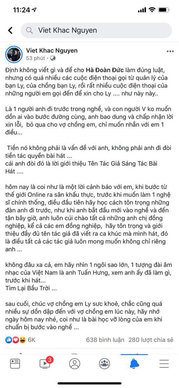 Trước việc Hương Ly cover không xin phép, Khắc Việt đáp trả khiến netizen ngỡ ngàng! - Ảnh 1.
