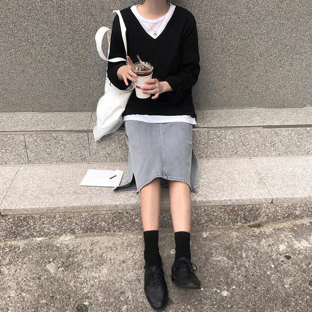 10 ý tưởng phối layer ngày se lạnh của hot girl Hàn: chỉ cần diện y chang là bạn có ngay vẻ sang xịn ao ước - Ảnh 7.