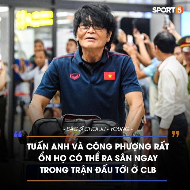 Bác sĩ tuyển Việt Nam báo tin vui về chấn thương của Công Phượng và Tuấn Anh - Ảnh 1.