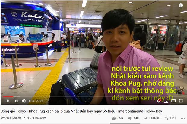 Than rằng không có tiền nhưng fan cứ đòi quay vlog mới, Khoa Pug chiều lòng chi hẳn 55 triệu cho ngày đầu ở Nhật - Ảnh 1.
