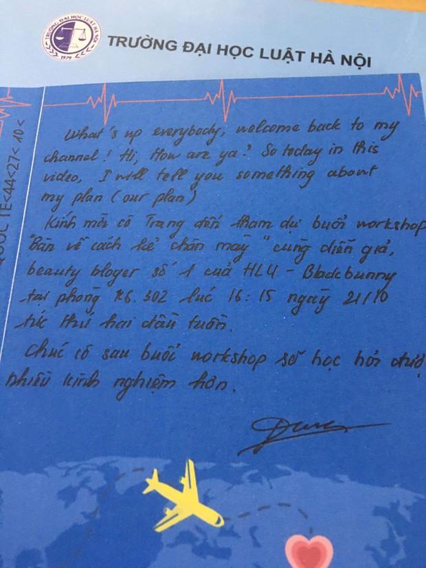 Thiết kế tấm thiệp handmade chào mừng ngày 20/10 cực sang chảnh, các chàng trai HLU đưa hội chị em đi từ bất ngờ này đến bất ngờ khác - Ảnh 4.