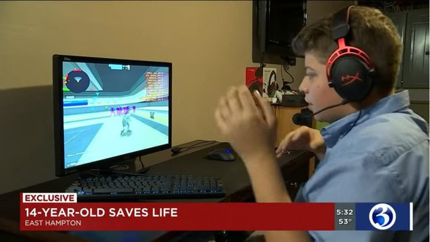 Chỉ chơi game nhưng cứu được mạng người, game thủ nhí được kênh tin tức Mỹ vinh danh - Ảnh 2.