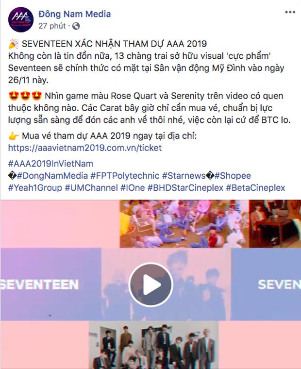 Trùm cuối AAA 2019 lộ diện: Nhá hàng thì tưởng BTS nhưng cái tên được gọi chính là SEVENTEEN! - Ảnh 2.
